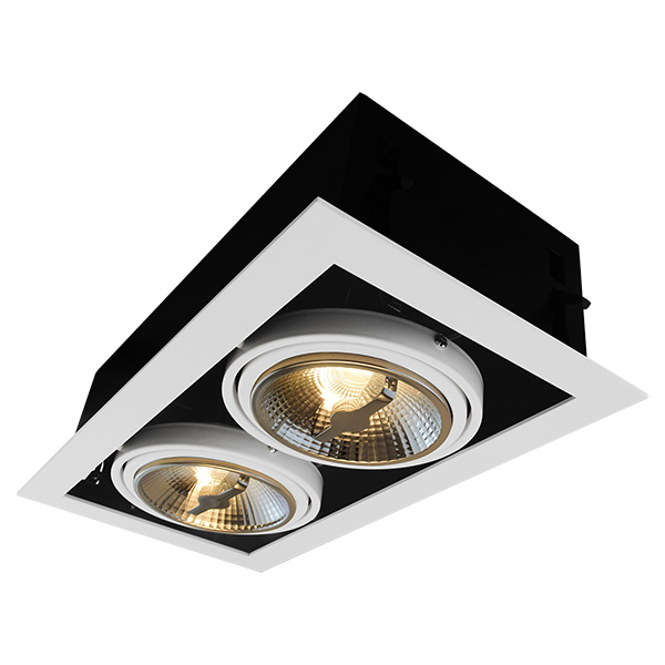 AR111 Recessed Fixture For Double Bulbs