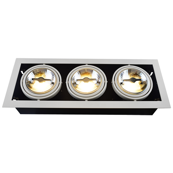 AR111 Recessed Fixture For Triple Bulbs