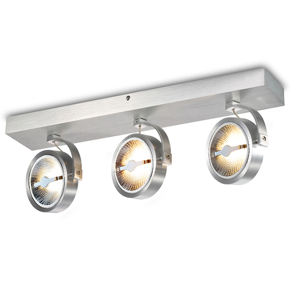 Aluminium AR111 Triplet Rotatable LED Spotlight Surface Mounted Stage Fixture