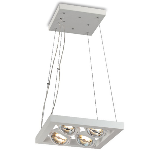 LED Reflector Square Suspension for Four Bulbs