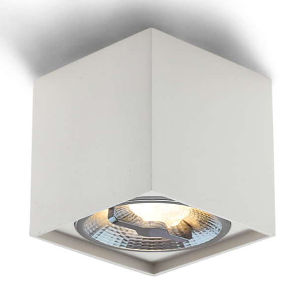LED AR111 Square Surface Mount Fixture For Single Bulb