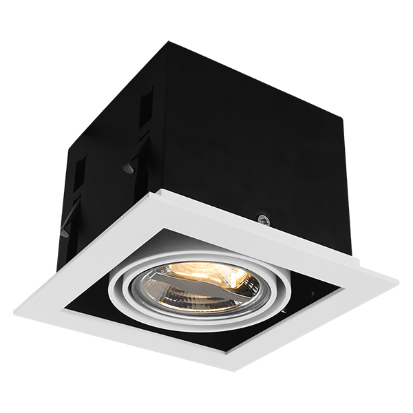 Squre AR70 Recessed Fixture For One Bulb