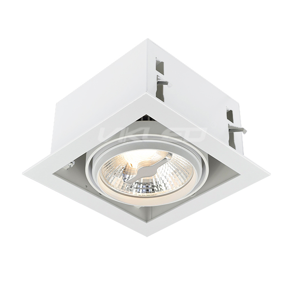 AR111 Front Lock Square Recessed Fixture - Single
