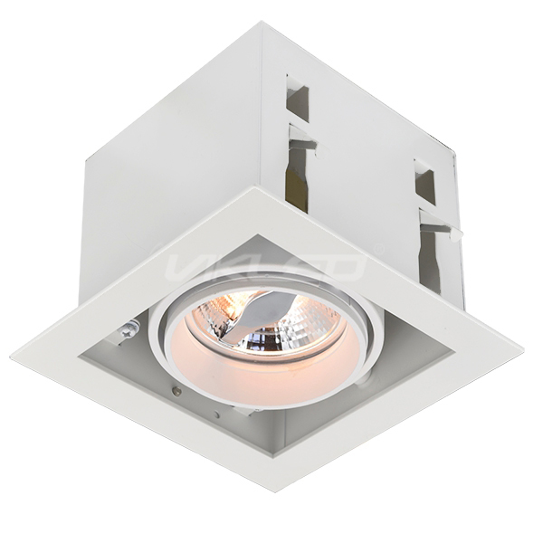 AR70 Front Lock Square Recessed Fixture - Single