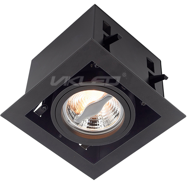 AR70 Flat Click Front Lock Square Recessed Fixture - Single