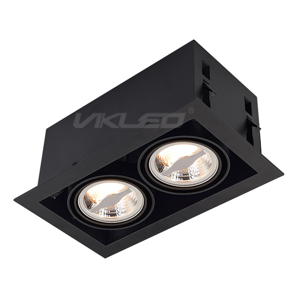 AR70 Square Recessed Fixture - Double