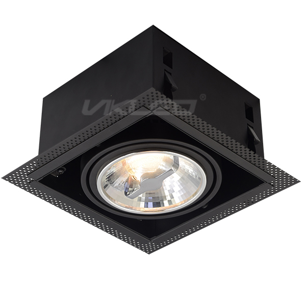 AR111 Square Recessed Fixture - Single
