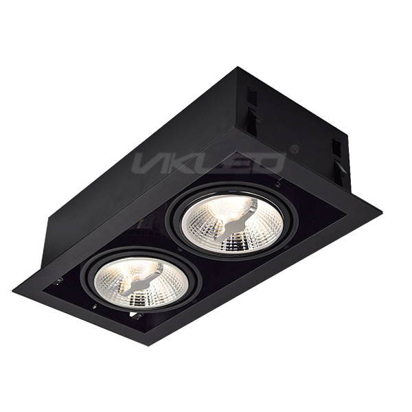 AR111 Square Recessed Fixture - Double